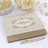 Just Married Guest Book Ivory & Gold - Chic Boutique - Wedlock Shop