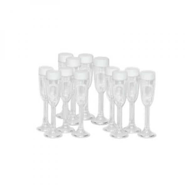 Clear Champagne Glass Bubbles - Wedlock Shop