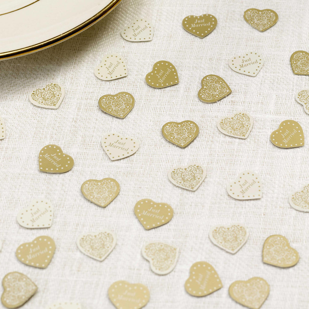 Table Confetti Ivory/Gold - Vintage Romance - Wedlock Shop