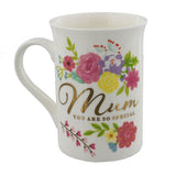 Contemporary Floral Mum Mug - Wedlock Shop