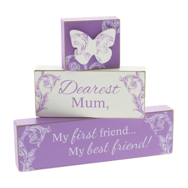 Dearest Mum Stacking Mantel Plaques - Wedlock Shop