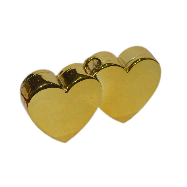 Double Heart Balloon Weight Gold - Wedlock Shop
