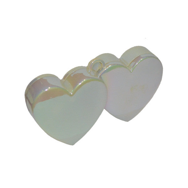Double Heart Balloon Weight Iridescent - Wedlock Shop