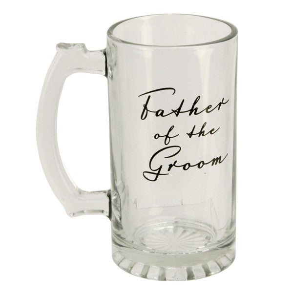 Father of the Groom Glass Tankard - Wedlock Shop