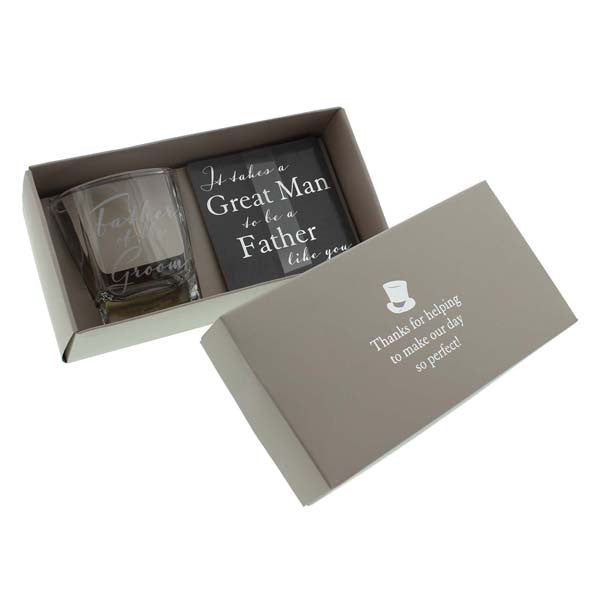 Father of the Bride Whisky Glass & Coaster Set - Wedlock Shop