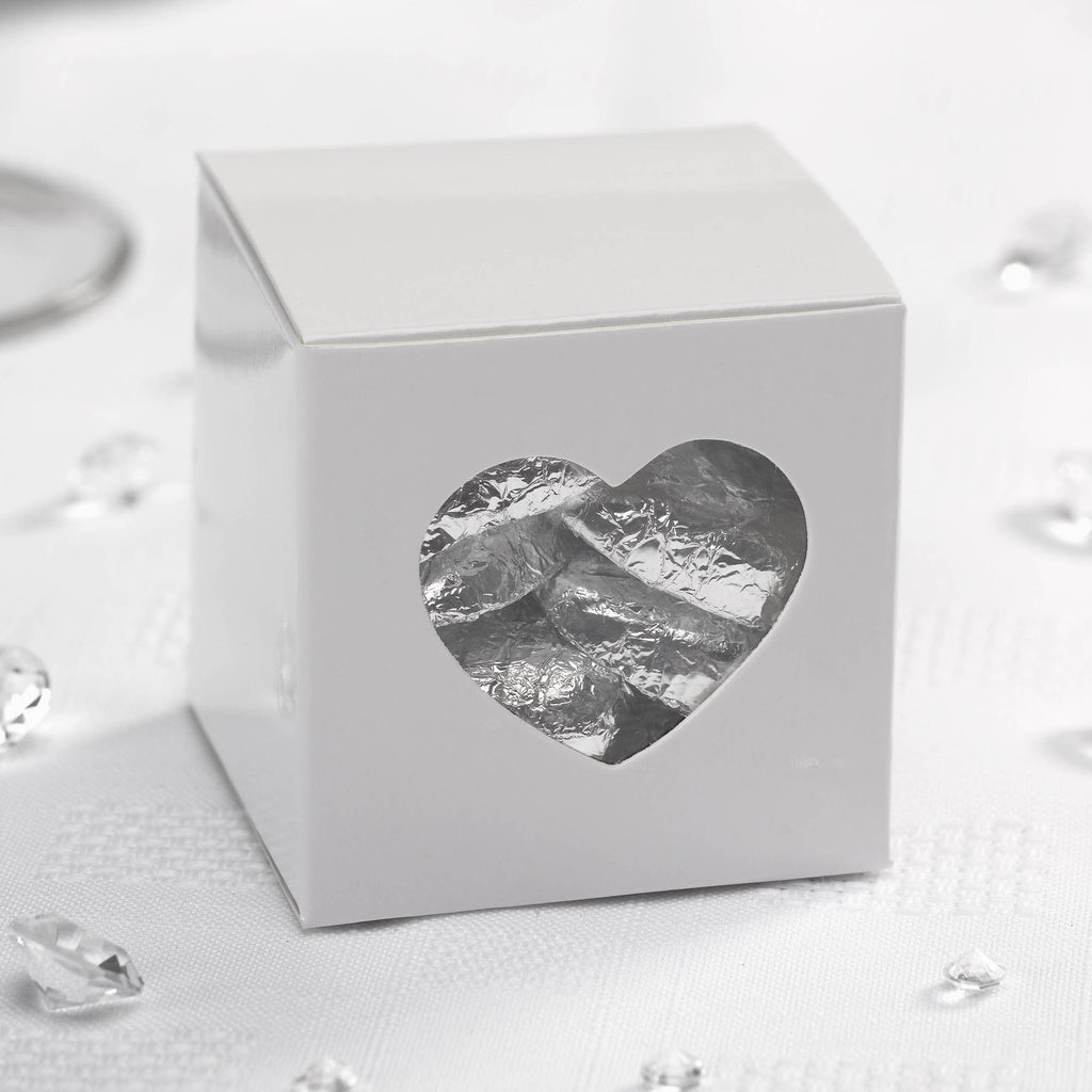 White Favour Boxes - Contemporary Heart - Wedlock Shop