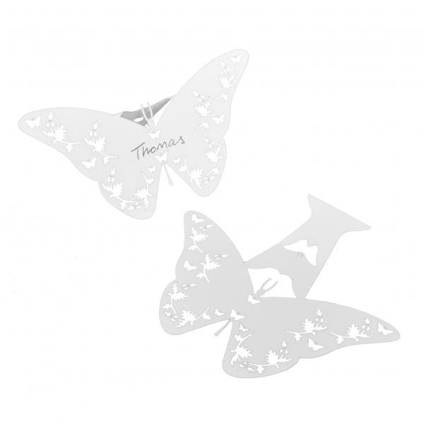 Filigree Butterfly Place Cards White - Wedlock Shop