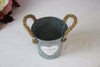 Antique Style Zinc Bucket with Rope Handles - Wedlock Shop - 3