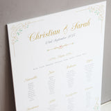 Gold Swirl Wedding Table Seating Plan - Wedlock Shop - 2