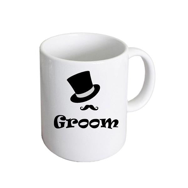 Groom Top Hat & Moustache Mug - Wedlock Shop