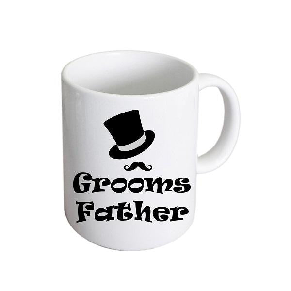 Groom's Father Top Hat & Moustache Mug - Wedlock Shop
