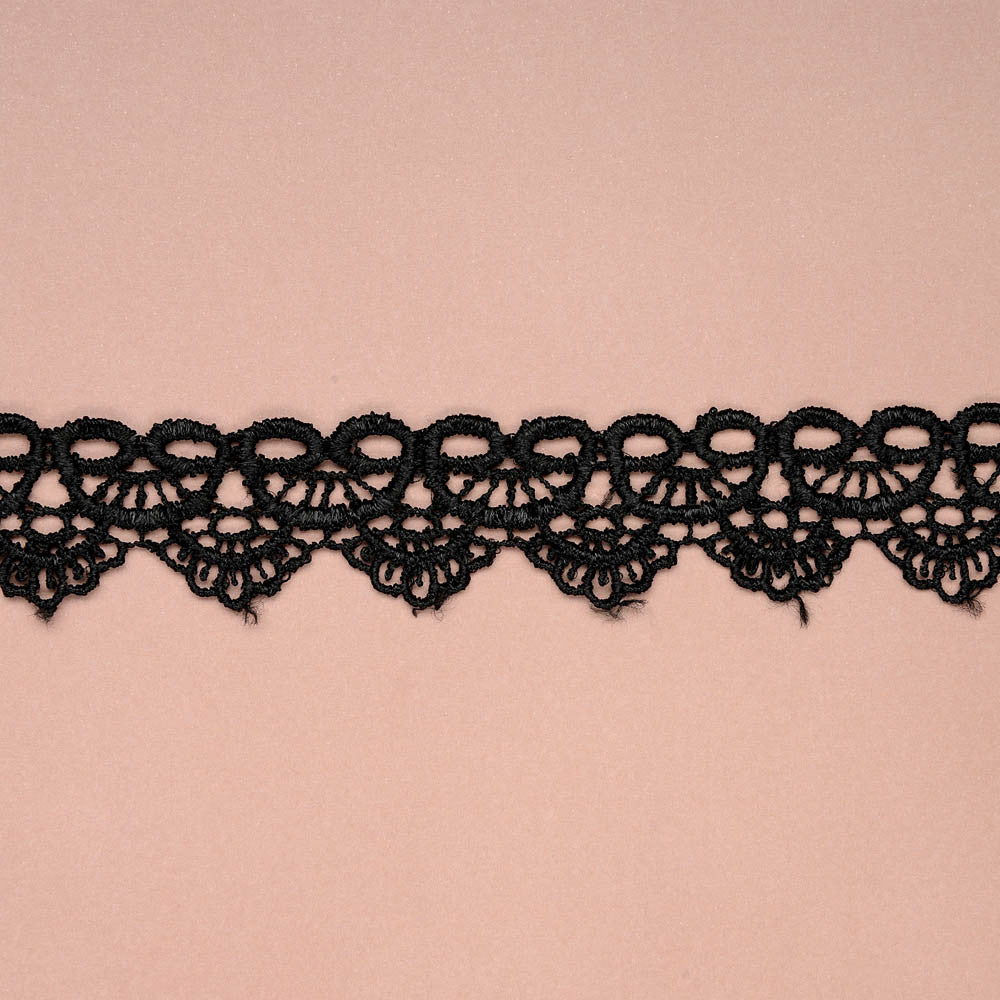 Scalloped Lace Ribbon - Black - Wedlock Shop