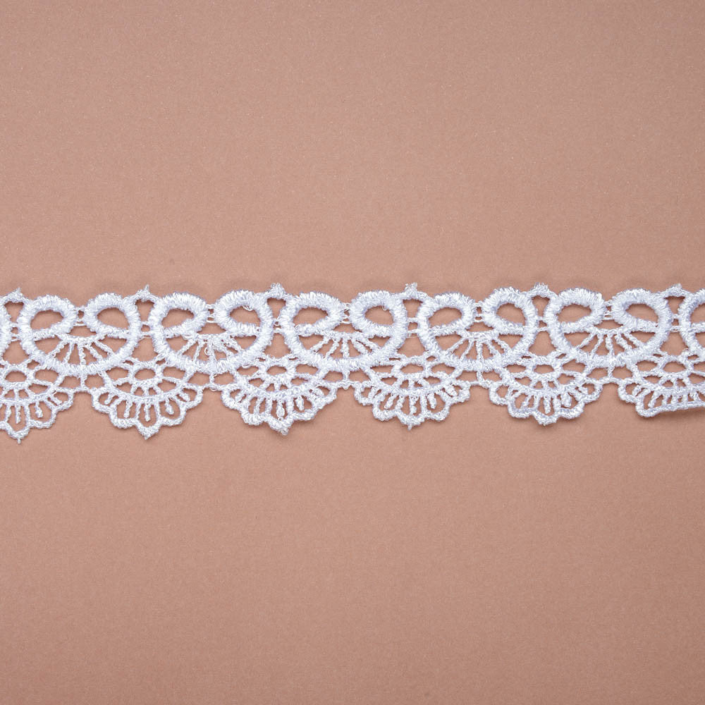 Scalloped Lace Ribbon - White - Wedlock Shop