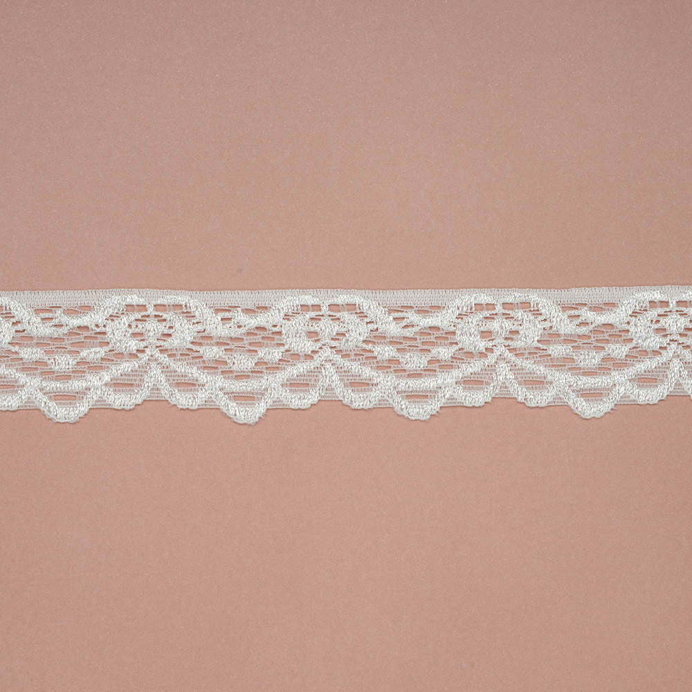 Soft Stretch Lace Ribbon - Ivory - Wedlock Shop