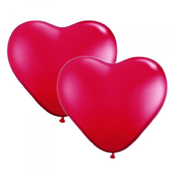 Heart Shaped Balloons - Red - Wedlock Shop