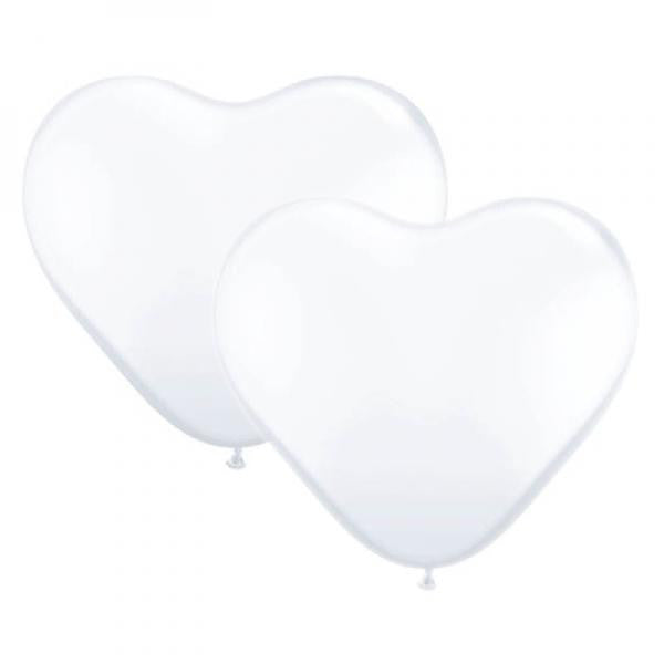 Heart Shaped Balloons - White - Wedlock Shop