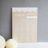 Hessian & Lace Wedding Table Seating Plan - Wedlock Shop - 1