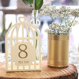 Bird Cage Table Numbers - Ivory - Wedlock Shop