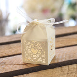 Double Heart Favour Box - Ivory - Wedlock Shop - 1