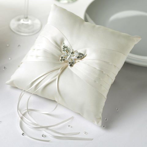 Ivory Ring Cushion - Vintage Romance