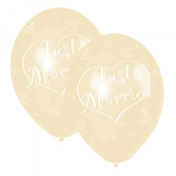 Just Married Balloons - Ivory - Wedlock Shop