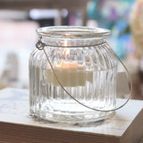 Large Glass Ribbed Jar with Handle - Wedlock Shop - 2