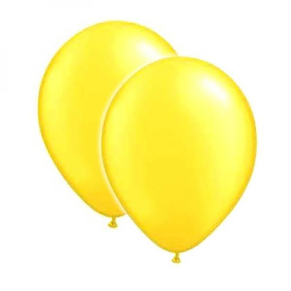 Latex Balloons - Yellow - Wedlock Shop