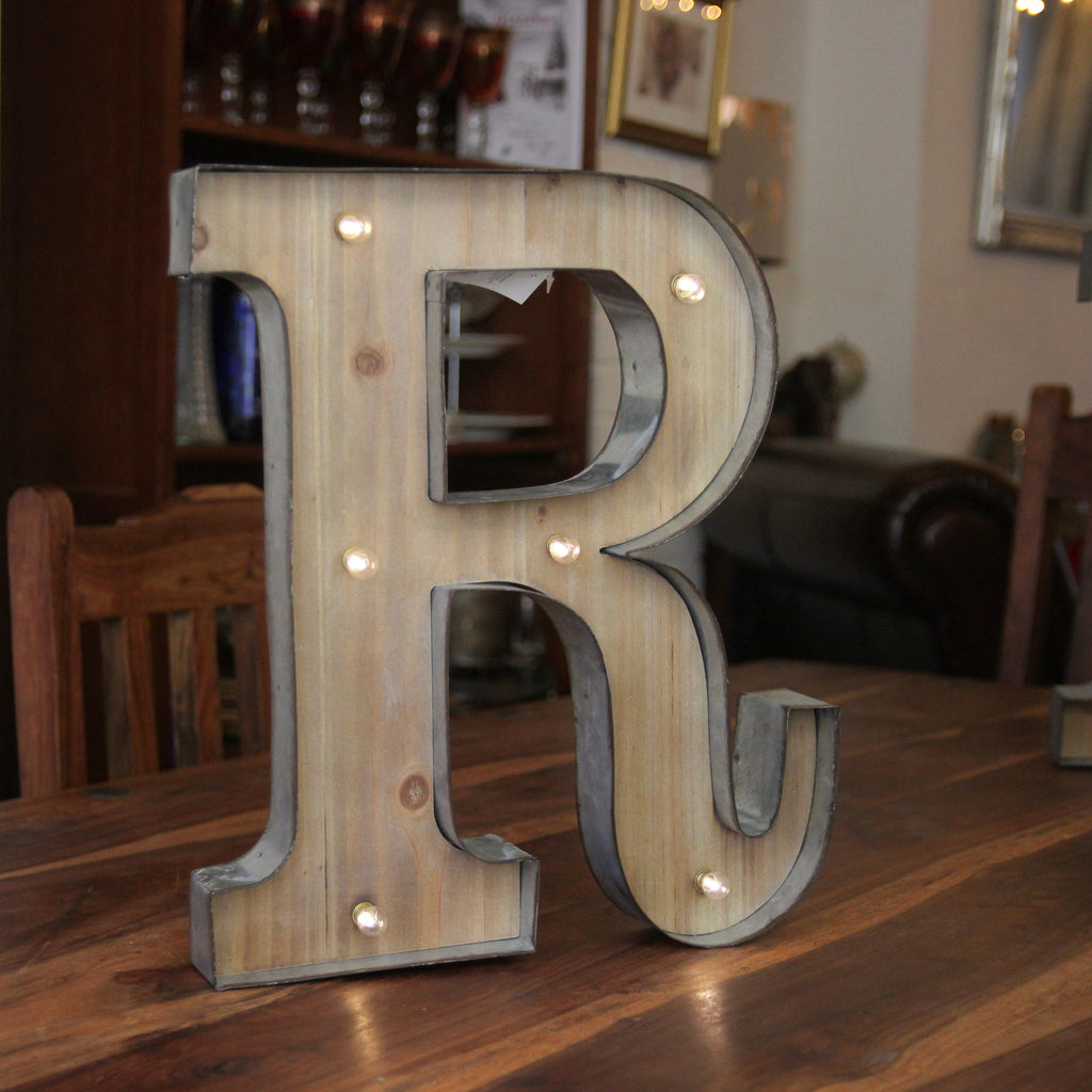 R LED Illuminated Letter - Wedlock Shop - 1