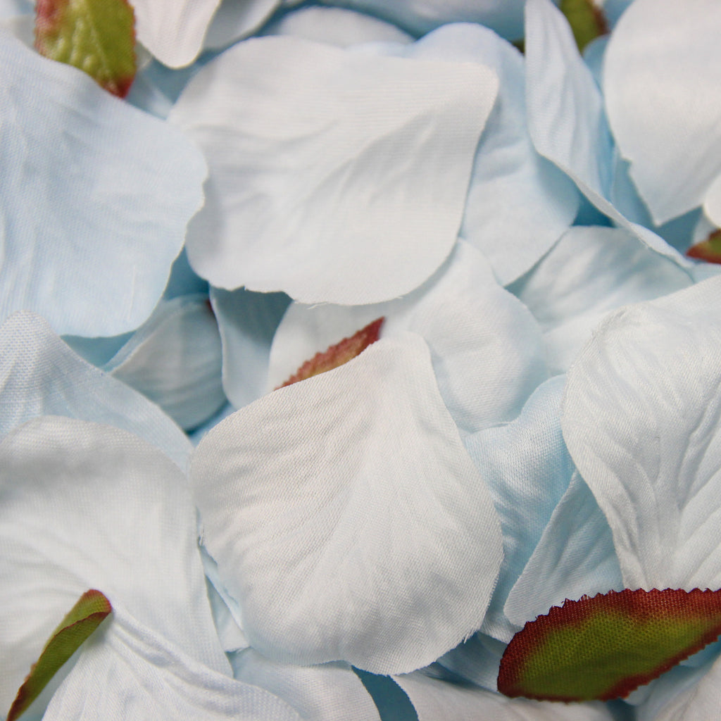 Light Blue Silk Rose Petals - Wedlock Shop