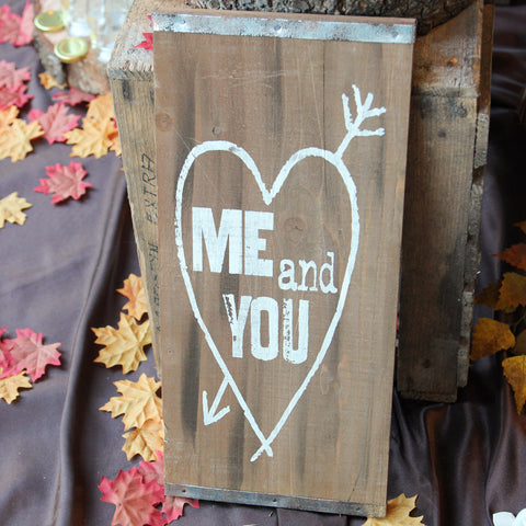 Mr & Mrs Chalkboard Sign