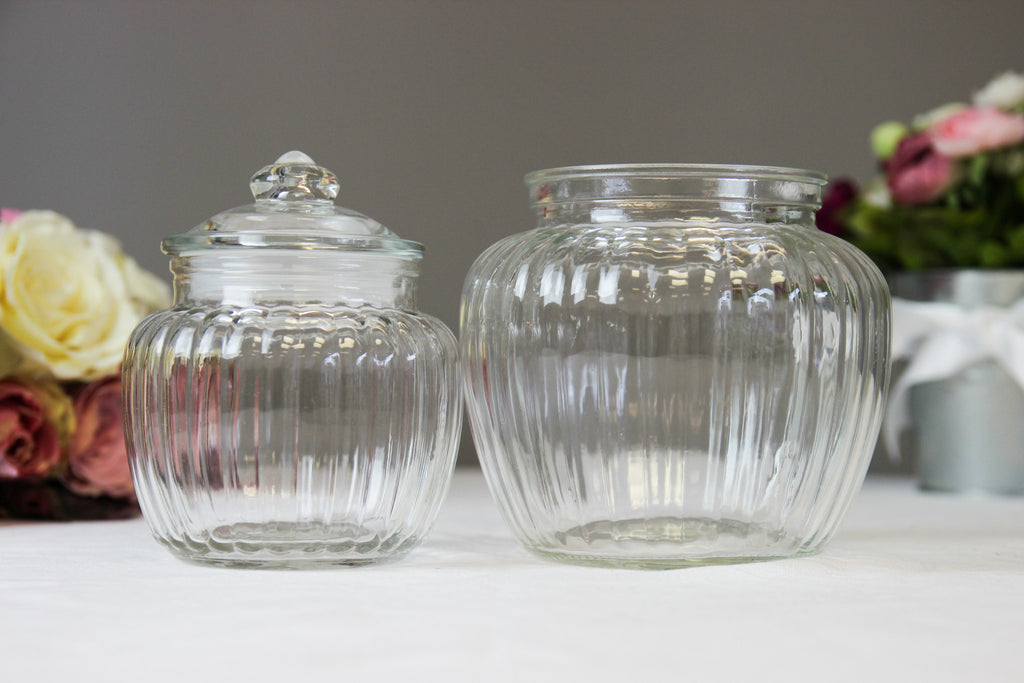 Vintage Glass Shoulder Jar - Medium - Wedlock Shop - 2