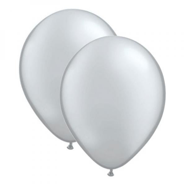 Metallic Balloon Pack - Silver - Wedlock Shop