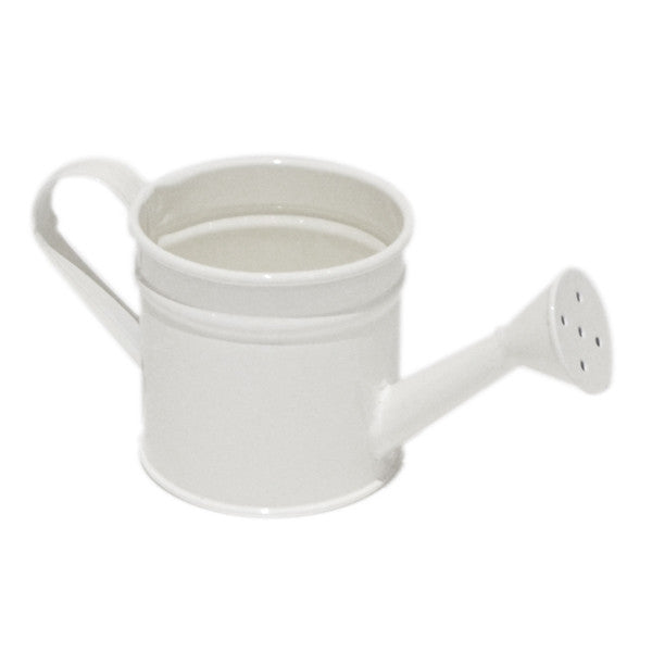 Mini Metal Decorative Watering Can - White - Wedlock Shop