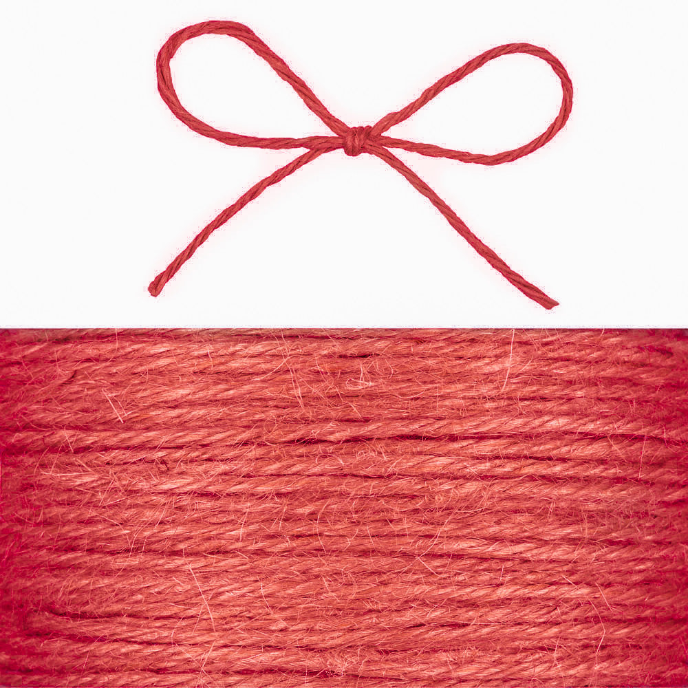 Hessian String - Red - Wedlock Shop - 1
