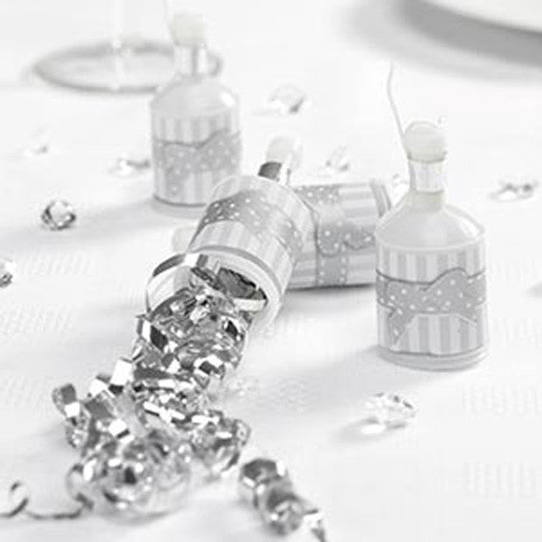 Party Poppers White & Silver - Chic Boutique - Wedlock Shop