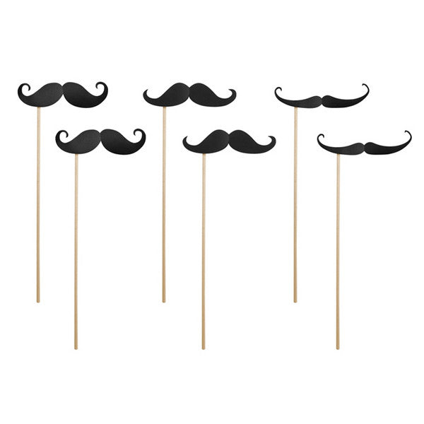 Photo Prop Moustaches on Sticks - Wedlock Shop