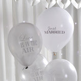 Balloons White & Silver - Chic Boutique - Wedlock Shop
