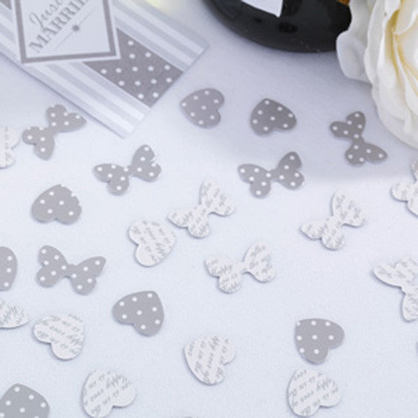 Table Confetti White & Silver - Chic Boutique - Wedlock Shop