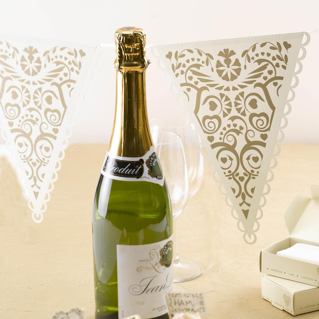 Ivory & Gold Bunting - Vintage Romance - Wedlock Shop