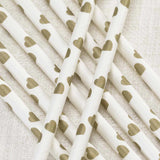 Paper Straws Ivory/Gold - Vintage Romance - Wedlock Shop - 2