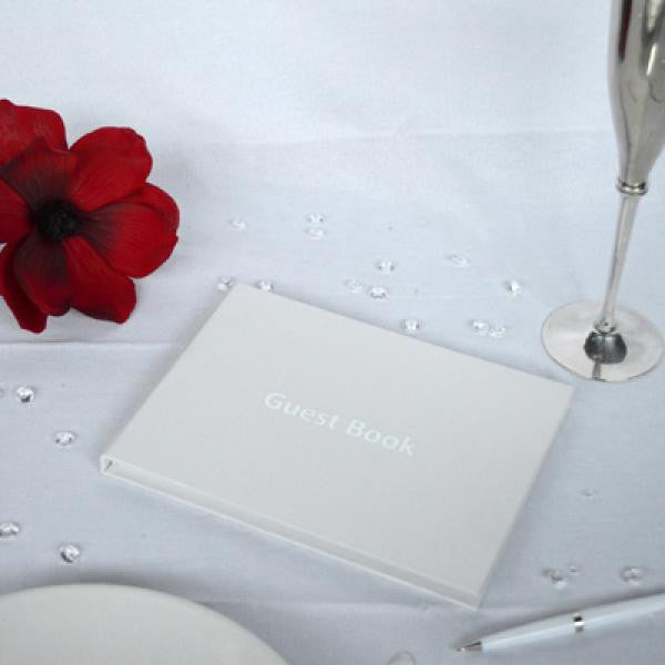 Plain White Guest Book - Wedlock Shop