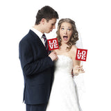 Red Love Photo Prop Cards on Sticks - Wedlock Shop