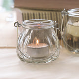Small Glass Tea Light Holder with Handle - Wedlock Shop - 1