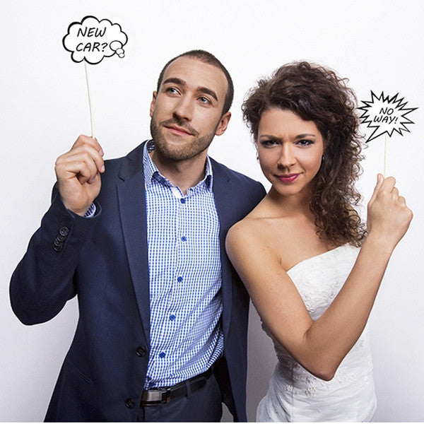 Speech Bubble Photo Props - Wedlock Shop