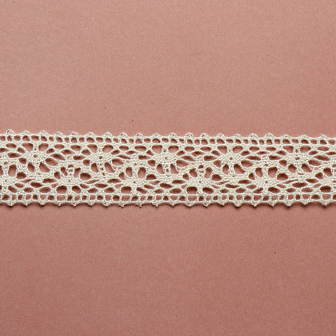 Cotton Lace Ribbon - White