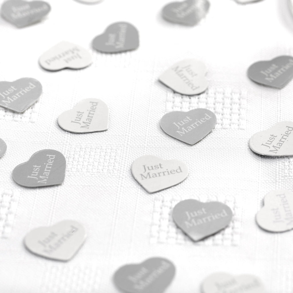 Table Confetti White/Silver - Contemporary Heart - Wedlock Shop