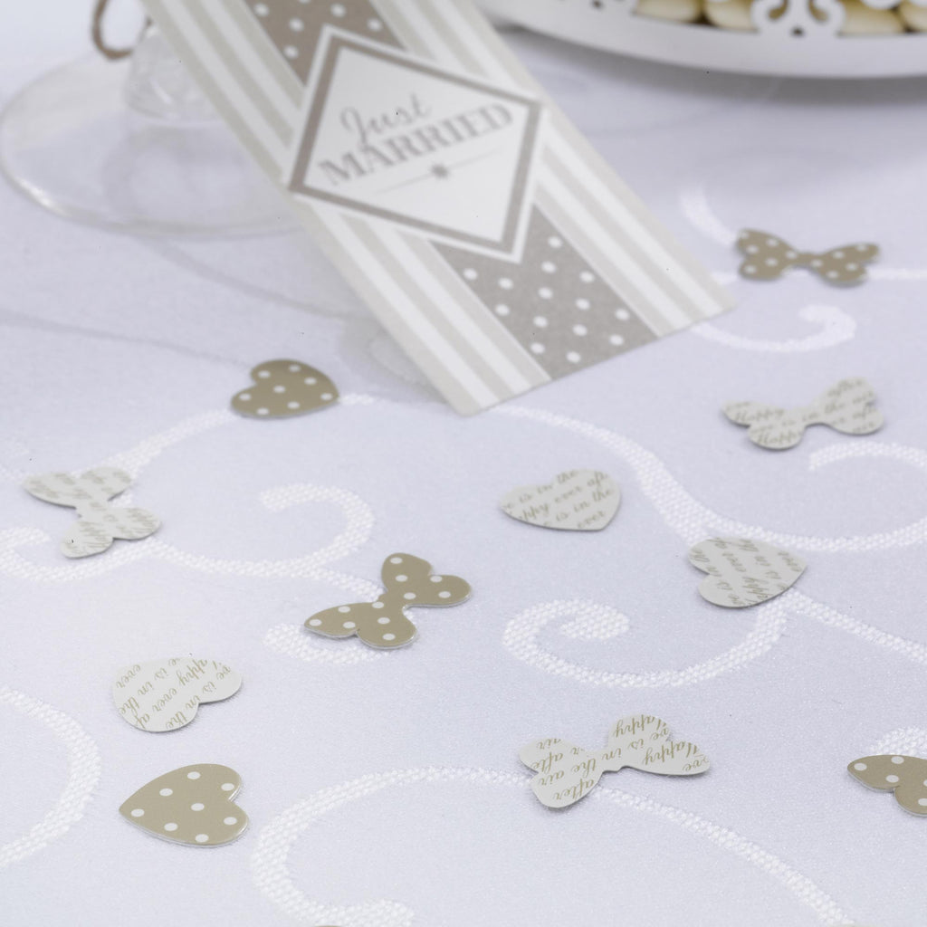 Table Confetti Ivory & Gold - Chic Boutique - Wedlock Shop - 1