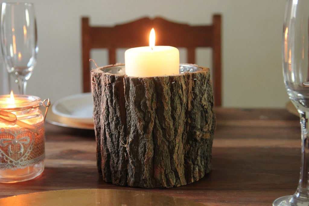 Bark Pot / Candle Holder - Wedlock Shop - 3