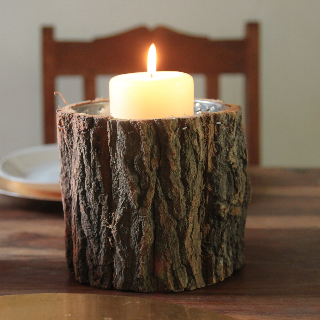 Bark Pot / Candle Holder - Wedlock Shop - 1