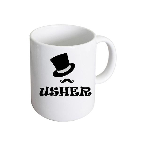 Usher Top Hat & Moustache Mug - Wedlock Shop